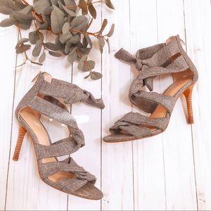 • Vince Camuto • Gray Bow Wrap Summer Sandal Heel